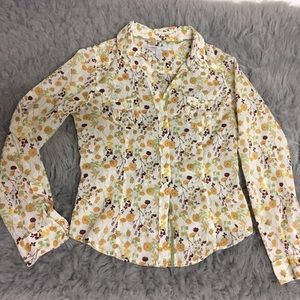 Old Navy fall/floral patter women's blouse